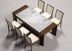 bàn ăn gỗ óc chó