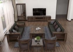 Nội thất gỗ óc chó cho phòng khách